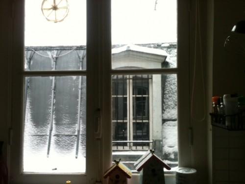 neige à paris,neige roulé-boulé