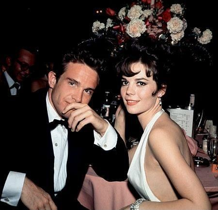 Natalie Wood & Warren Beatty at Oscars, for 'Splendor In The Grass', by Bernie Abramson, 9th Apr. 1962.jpg